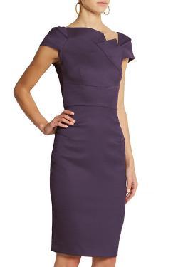 ROLAND MOURET - Lepas stretch wool-blend crepe dress