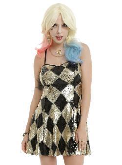 Hot Topic - DC Comics Suicide Squad Harley Quinn Sequin Dress