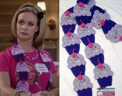 Kellyz Kreationz - Cupcake Scarf, Kimmy Gibbler scarf, Fuller Full House scarf, Gibbler Style, Purple, crocheted cupcake, child, teen, adult, gift, Original