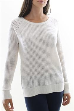 Vince - White Sweater Raglan Thermal Cashmere Blend