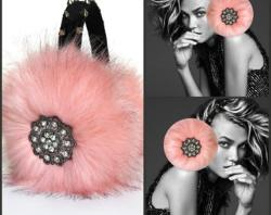 April delouvre - Peach earmuffs
