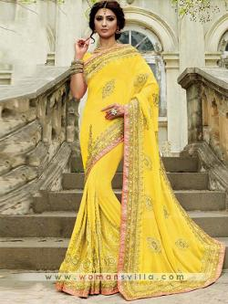 Womansvilla - https://www.womansvilla.com/mysterious-yellow-colored-georgette-designer-saree-vogu7768.html