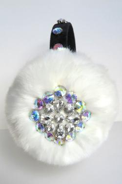 April Delouvre - Jeweled white earmuffs