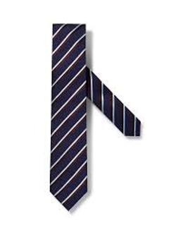 Ermenegildo Zegna - Blue/Brown/White Striped Tie
