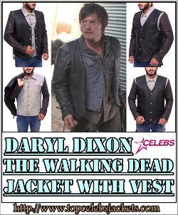 Top Celebs Jackets - Daryl Dixon The Walking Dead Jacket Vest