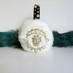 April Delouvre - White earmuffs with pearls by April Delouvre
