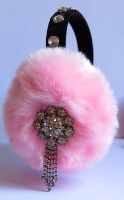April Delouvre - Pink earmuffs by April Delouvre