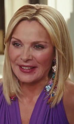Kim Cattrall with Rodrigo Otazu 'Samantha' Earrings in Sex ...