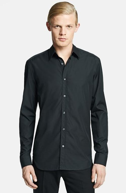 Alfie allen burberry london tailored fit dress shirt from for Tailored fit dress shirts