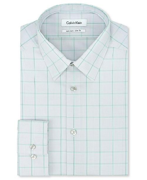 Pitobash calvin klein steel no iron slim fit grey and mint for No iron slim fit dress shirts