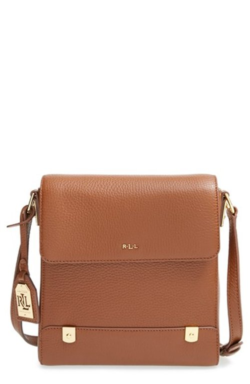 Keira Knightley Lauren Ralph Lauren Leather Crossbody Bag From Begin Again | TheTake