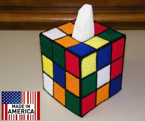 Big Bang Theory Rubiks Cube Tissue Box