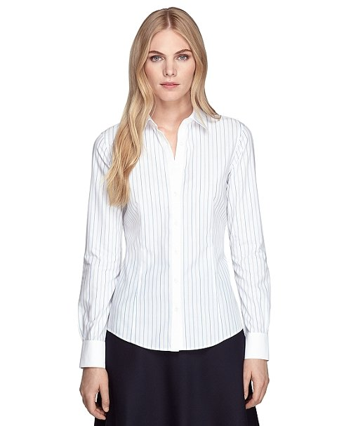 Amy Adams Brooks Brothers Non Iron Tailored Fit Stripe