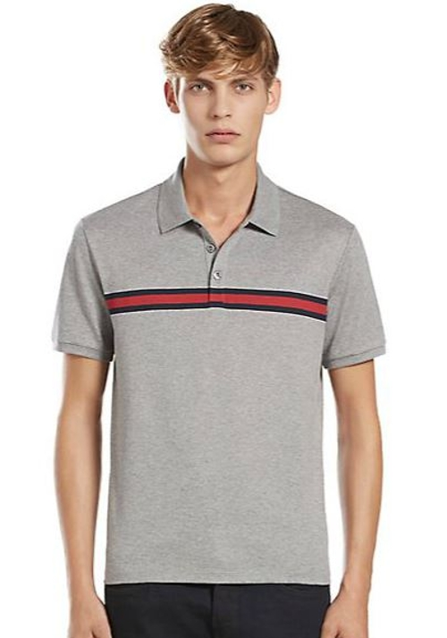 Rajesh tailang gucci chest stripe cotton jersey polo shirt for Gucci t shirts online india