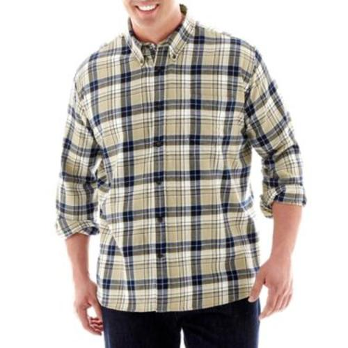 Rob riggle the foundry supply co long sleeve flannel for Foundry men s polo shirts