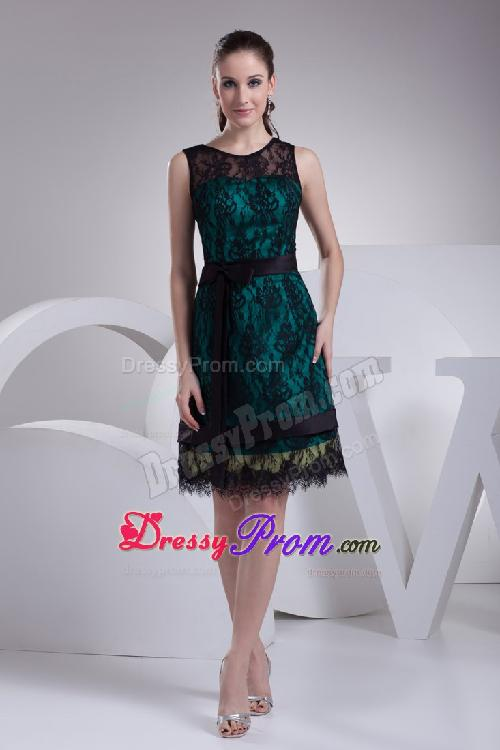 lucy fry dressy prom dark green and black lace prom