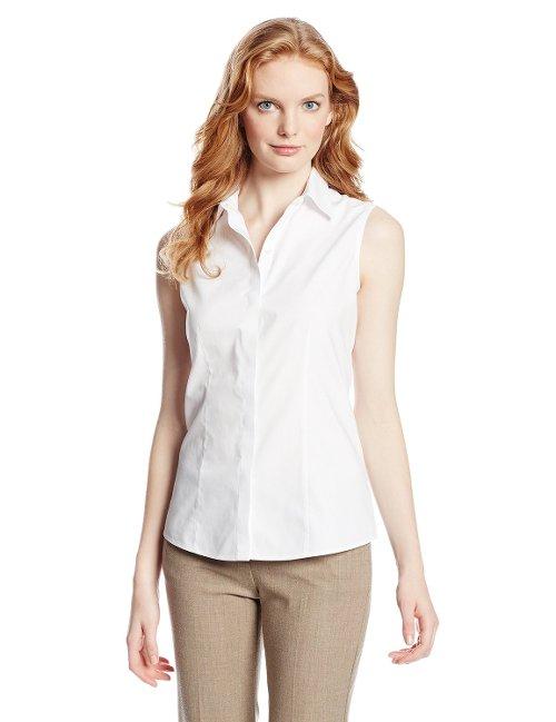 Zooey Deschanel Foxcroft Women 39 S Sleeveless Oxford Shirt