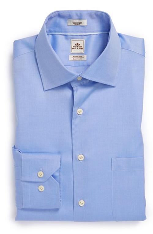Brendan gleeson peter millar 39 nanoluxe 39 regular fit for Wrinkle resistant dress shirts