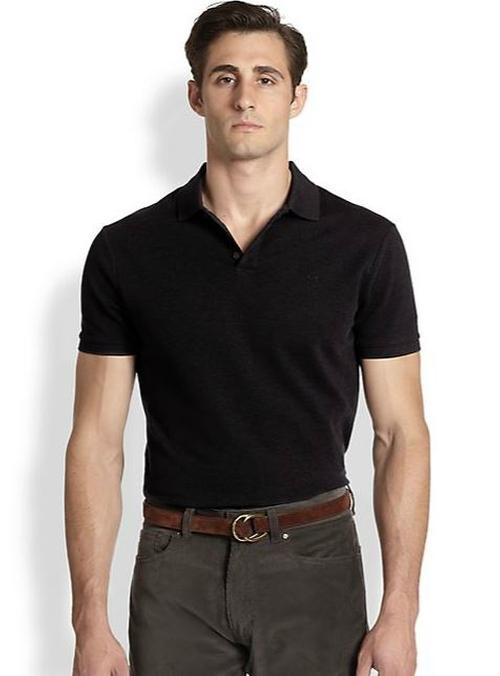 Harvey morris ralph lauren black label solid mesh knit for Ralph lauren black label polo shirt