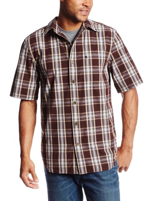 Tony Revolori Carhartt Essential Plaid Button Down Short
